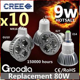 Cree llevó la garantía en venta-Bulbo del proyector del CREE 9W LED E27 GU10 GU5.3 MR16 E14 Bombillas de la seguridad 5 años de garantía SHIPPIN LIBRE