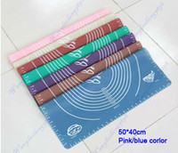 Wholesale 50 cm Silicone Material Cutter Square Rolling Cutting Pad Mat Fondant Cake Boards