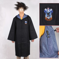 Wholesale Newest Harry Potter Uniform Ravenclaw s School Robe Cloak Cosplay Costume size for children style and adult style