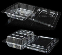 Wholesale 100X Individual With Hat Clear Plastic Disposable Food Cake Container Cupcakes Packaging Box