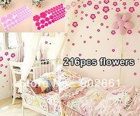 bathroom furniture modern - funlife Flowers rosy pink Bedroom Child Room Bathroom Furniture Nurser Wall Sticker Decal