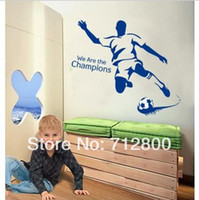 animal shelf - 90 cm Football Boy Removable Wall Stickers For Children Kids Room Decoration Wallpaper D Bedroom Decor Shelf Wall Decals