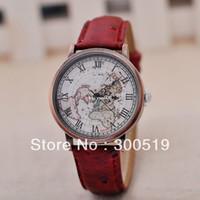 Wholesale JW432 Vintage Clocks Women Watch High Quality Wristwatches Rome Brass Map Watch Face Dress Watch Singapore Post