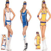 Wholesale 2015 Fashion New sexy costumes for women basketball baby girl cosplay Cheerleader uniform stage wear clubwear