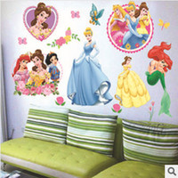 beautiful small bathroom - 2014 New Vinyl Mural Beautiful Snow White And Mermaid Bathroom Wall Art Wall Stickers For Kids Rooms