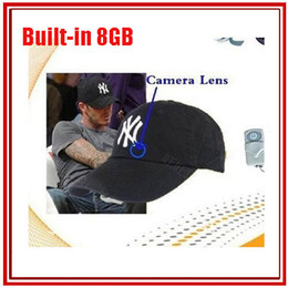 Wholesale spy Camera Hat Cap with Remote Control P HD GB Built in Hidden Hat Cap spy Camera DVR mini dv spy camera