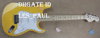 Wholesale Custom Yngwie Malmsteen Play Loud Tribute Strat caster aged Olympic White finish Electric Guitar scalloped maple fretboard jumbo frets