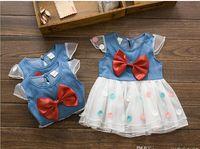 Summer baby product line - New Arrival Hot Summer Baby Kids Clothes New product Korean Children Denim Dress Girls princess gauze Dresses