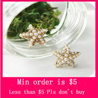 Wholesale Min Order Mix Jewelry order Fashion Rhinestone Pearl Starfish Star Earring Sea Ear Stud Earrings E0296