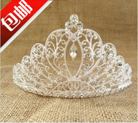 Rhinestone/Crystal crowns and tiaras - New Large Crystal Rhinestone Bridal Hair Jewelry Wedding Hair Accessories Pageant Tiaras and Crowns Do not contain the chain