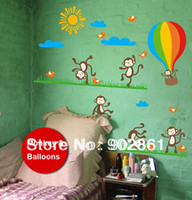 balloon jump - funlife Removable Jumping Monkey amp Balloons new Kids Nursery room Art Mural Wall Decals
