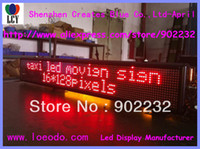 Wholesale Free ship Taxi led moving display lines Mini Remote Keyboard Single Red Color DC9V V Bus led advertising screen Semioutdoor