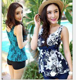 Wholesale Sunseeker plus size chuanwei poem plus size split boxer swimwear spa women s swimwear