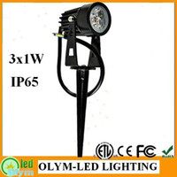 Wholesale Waterproof IP65 Wedge Black High Quality V W W Outdoor LED Lawn Light Garden Lamp Park Road Spotlight Spot