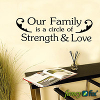 animal text art - Our Family Is A Circle Of Strength amp Love quot wall sticker lettering vinyl words art text decal stickers QS02