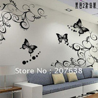 best selling posters - Best Selling sets wall sticker Wall paster poster house decorative sticker vine butterfly Retail amp