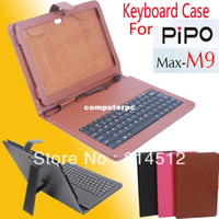 Folding Folio Case 7'' For Apple Capacitive pen+ Special Leather keyboard Case for pipo m9, pipo m9 3g keyboard case good quality