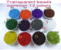 Wholesale HOT SALE mm Transparent beads Glass beads clothing accessories in each bags drop shipping sale