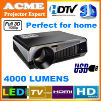 Wholesale 1080P Full HD LED Projector Home Theatre Big Screen Projector HDTV With USD HDMI Support All Game Machine Wholesal