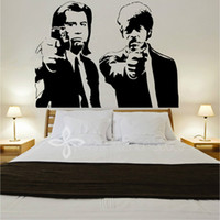 banksy wall decal - Banksy Jules and Vincent Pulp Fiction LARGE Vinyl Wall Decal Wall Sticker Mural Wallpaper Wall Art CM