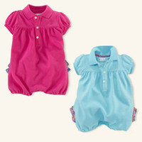 Girl Summer Cotton Blends 2014 NEW kids baby romper girl rompers girls jumpers short sleeve summer B146232