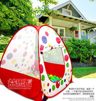 Tents Classic Cloth wholesale for kids Playing In&Outdoor castle tent Kids Play Game Kids Tent Toy toy multi-function tent