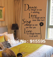 art sing - Wall Quotes quot Dance Love Sing Live quot Removable PVC Vinyl Wall Stickers Decals Art Small size cm in