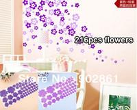 bath room lighting - funlife Purple light purple flowers Dual color Mini Flowers Bath room window Decals x60cm sheet