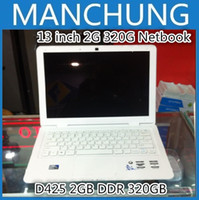 Wholesale DHL FEDEX inch Laptop Notebook Computer D425 GB DDR GB White Black Color
