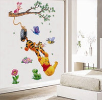 baby pooh stickers - New cheap removable little bear and pooh baby wall stickers