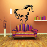 animals horses wallpaper - Vinyl Galloping Horse Animal Animal Wall Stickers Art Wall Decals Wallpaper Home Decoration Size x60cm