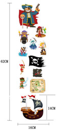 Wholesale new product kids room pirate ship decals pirates wall stickers removable pirate wall sticker