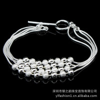 Knot Women Silver DB239 silver plated copper wire beaded snake bone bracelet multi- hand jewelry wholesale