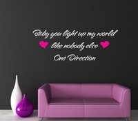 baby room wall decals quotes - ONE DIRECTION BABY YOU LIGHT UP MY WORLD WALL ART QUOTE STICKER BEDROOM LOVE On Wall Decal Sticker Home Decor Art Mural