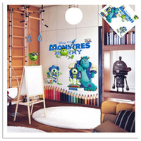 baby room colours - FULL COLOUR MONSTERS INC UNIVERSITY WALL ART STICKER DECAL GRAPHIC KIDS BABY DEC