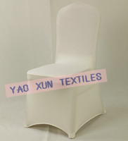 Banquet Chair Spandex / Nylon  Free Shipping Ivory Lycra Spandex Chair Cover For Wedding