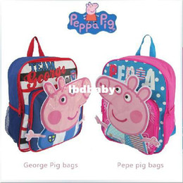 Wholesale peppa pig school bag children backapack kid s gift baby boy s schoolbag girl s back pack