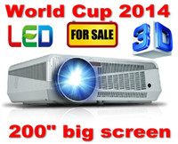 Wholesale For Brazil World Cup High Brightness Lumens WXGA x800 Home Theater Digital P HD D Video HDMI USB TV LCD LED Projector
