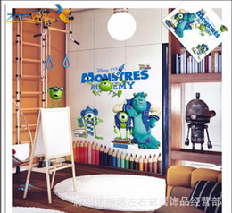 Free Shipping 52*42 cm Monsters University Decal Removable Wall Sticker Home Decor Art Kids  Nursery Gift