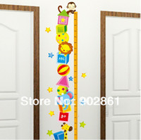art circus - funlife cm Chart Kids Bedroom Decor Cartoon Animal Circus Growth Ruler Height Tower Wall Sticker Art Decal