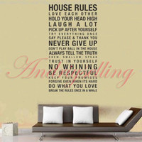 animal house film - POPULAR NEW cm cm Art Words Motto Poem HOUSE RULES Vinyl Wall Sticker Decor Mural Decal with Transfer film