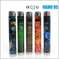 Adjustable   New vision colorful Vamo V5 vamo v4 vamo v3 vamo v2 updated lava tube ecigarette vamo mod v5 Electronic Cigarette Battery DHL free shipping