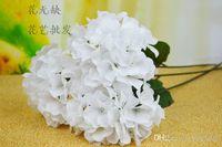 Wholesale 16p Fashion WHITE cm Long Stem Silk Artificial Hydrangea Laurustinus Flower Home Decoration
