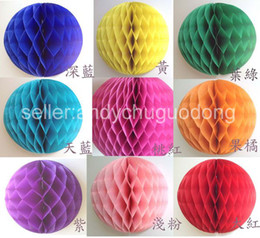 Wholesale inches cm Tissue Paper Flower ball Honeycomb Lantern Wedding Party festival decorations