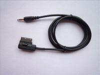 Wholesale For CAR VW Audi Music Interface MMI MDI AMI mm Male Jack Aux MP3 Cable Q7 A8 A6L A5 A4