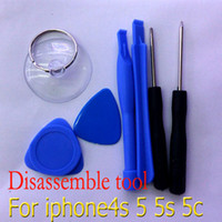 Wholesale 7 in1 set DIY repair opening open tools screen LCD disassemble tool for iPhone S C S sets