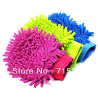 Brush Sponges, Cloths & Brushes 1 inch Ultrafine fiber chenille double faced wipe car gloves cleaning cloth car wash gloves