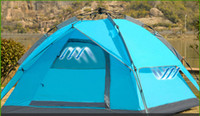 Wholesale 2014 New Style Door Double Layer Person Automatic Camping Tent