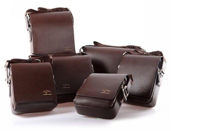 Fashion Kangaroo Mens Leather Crossbody Shoulder Messenger Bag Briefcase 84