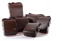 Wholesale Fashion Kangaroo Mens Leather Crossbody Shoulder Messenger Bag Briefcase Colors Versions